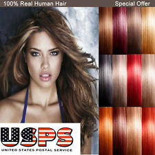 Professional 8 Piece Clip In Remy Human Hair Extensions Full Head Wedding US E42