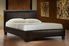 DOUBLE KING-BLACK-BROWN-WHITE leather bed With MEMORY FOAM-ORTHOPAEDIC MATTRESS