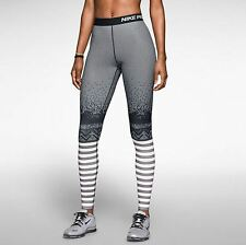 Nike Pro Hyperwarm Engineered Print Women's Tights 622289-010 NWT Nordic