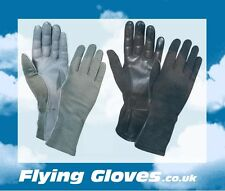 FLYING GLOVES US Military Nomex Back with Leather Palm Pilot Flight Gloves