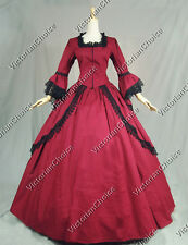 Colonial Victorian Dress Ball Gown Reenactment Theatre Clothing Cosplay Punk 143
