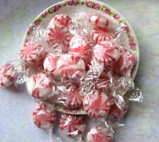 Sugar Free Old Fashion Peppermint Starlight Mints Hard Candy Single Wrapped