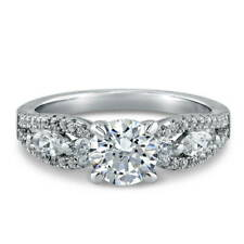 Silver Solitaire Promise Engagement Ring Made with Swarovski Zirconia 1.6 CT