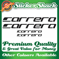 CARRERA PREMIUM QUALITY MOUNTAIN BIKE LOGO STICKERS SET BADGE DECALS