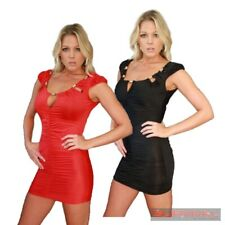 NEW SIZE 8-10 SEXY WOMENS PARTY CLUB WEAR CASUAL HOT EVENING SHORT SLEEVE DRESS