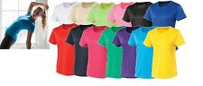 Womens Ladies AWD Casual Girlie Cool T Gym Running Tops Size XS-XL JC005