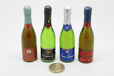 DOLLS HOUSE MINIATURES - 3 LOTS - 4 CHAMPAGNE & MIXED LOT INC GUINNESS - VINTAGE