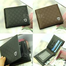 Men's Stylish Synthetic Leather Wallet Pockets Card Clutch Cente Bifold Purse