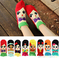 Korean Womens Retro Vintage Cute Cartoon Girls Cotton Ankle Low Cut Socks
