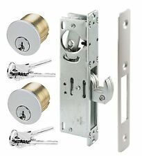 ADAMS RITE TYPE STORE FRONT HOOK BOLT & keyed mortise cylinders, commercial door