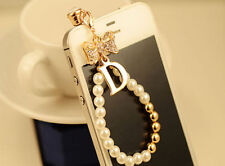 Diamond Crystal Earphone Jack Anti Dust Plug Cap Stopper For CellPhone P1