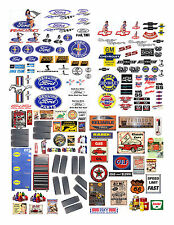 1:24 1:18 DECALS FOR DIECAST AND MODEL CARS & DIORAMA CB FORD CHEVY