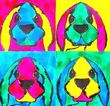 HARE rabbit pop art PRINT A4 OR A3 - signed limited edition D Barker