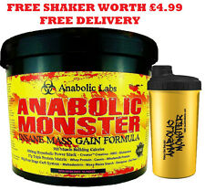 LARGE ANABOLIC MONSTER WEIGHT MASS GAIN  WHEY PROTEIN POWDER SHAKE/DRINK MUSCLE