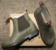 Camper 1912 Pull-on Boots, Slip-on Children Kids Youth Olive Leather 90091-006