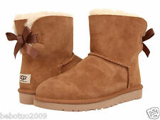 NEW WOMEN UGG AUSTRALIA MINI BAILEY BOW CHESTNUT BOOT 1005062 ORIGINAL