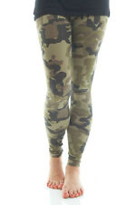 PLUS SIZE CAMO LEGGINGS GREEN CAMOUFLAGE PRINT COUNTRY HUNTING MILITARY ARMY