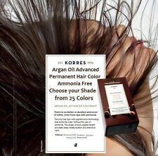 KORRES Argan Oil Advanced Permanent Hair Color  Choose your shade from 25 Colors