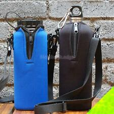 1000ML Water Bottle Carrier Insulated Cover Case Bag Pouch Holder Shoulder Strap