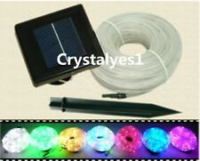 Solar Rope 100Led light Tube String Ourdoor Garden Fairy Party Waterproof @US