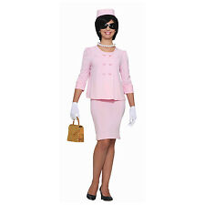 Jackie O Womens Costume Pink Suit Dress Hat Jacket Lady Kennedy Onassis 60's New