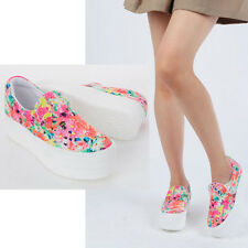 New Women's Platform Pretty Fashion Sneakers_chrysanthemum Heel' High Top Shoes