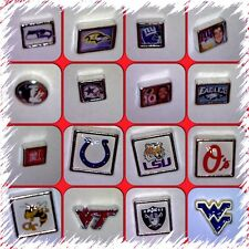 Floating Charms-College-NFL-Football-Baseball-for Memory Lockets-Free Shipping