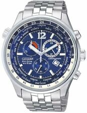 Citizen Eco-Drive Sapphire Chrono World Time Gents Watch AT0365-56L AT0360-50L