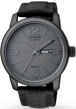 Citizen Eco-Drive Stealth Black Canvas 100m Watch BM8476-15E BM8475-00F