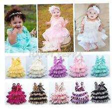 Baby Girls Toddler Layered Lace Tulle Tutu Bridesmaid Wedding Party Dress 12M-3