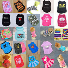 Pet Dog Cat Clothes Puppy Various Summer Vest T Shirt Cute Coat Apparel Costumes