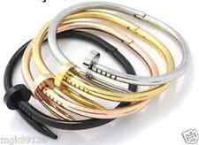 Nail Bracelet Hinged Cuff Layer Stack Screw Bangle Men Woman Magnetic Close