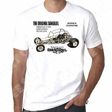 Sandrail Dune Buggy Vintage 70s style Vw Beetle engine 100% cotton mens T-shirt