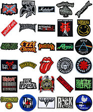 Music Songs Heavy Metal Punk Rock Band Logo L-W T-Shirts iron on Patches