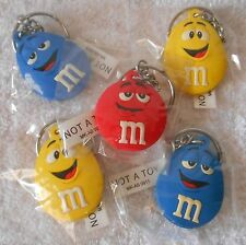 M&M's Character Face Keychain - NEW in Package Blue Yellow Red