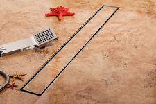 Tile insert linear shower drain long floor drain channel