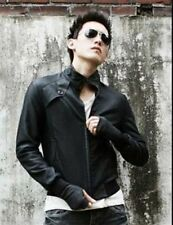 Men's Semi Leather Jacket Vintage Style with Slim fit Design Italian Fashion