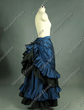 Victorian Pleat Gathered Bustle Walking Skirt Reenactment Theatre Clothing K034