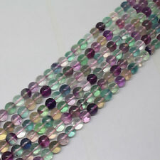 4mm,6mm Natural Multicolor Fluorite AA Quartz Round Loose Beads 15""