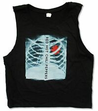 "RED HOT CHILI PEPPERS ""X-RAY"" JUNIORS BLACK MUSCLE SHIRT NEW OFFICIAL RHCP"
