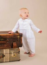 Alexander Christening Outfit 3-Piece Set - Soft Tightly Woven Plain Weave Fabric