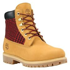 "Timberland Mens 6"" Inch EarthKeepers Wheat Red Plaid Panel Boots 6620A"