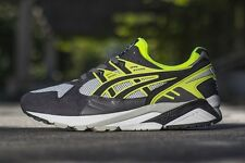 Men's Asics Gel Kayano Trainer Soft Grey Black Neon H4A2N-1090 Running Trainer