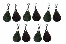 Swivel Flat Pear carp leads textured coating-Available in 1oz-4oz Pack of 10