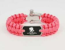 Wounded Warrior Project Paracord Survival Bracelet PINK  by Survival Straps