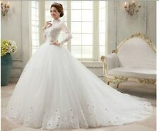 2015 long sleeve wedding dresses Palace restoring ancient ways lace the princess
