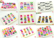 FREE  Wholesale lots jewelry 10pcs Charm Resin Lucite draw Rings 13-20mm