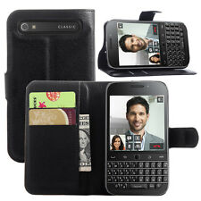 Wallet Leather Case Flip Cover For BlackBerry classic Q20