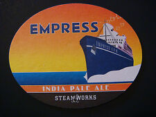 BEER COASTER ~*~ STEAMWORKS Brewing Empress India Pale Ale ~*~ Vancouver, CANADA