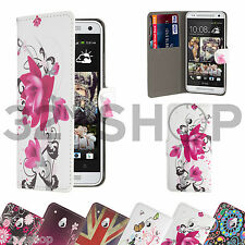 Design Book PU Leather Card Slot Case Cover for HTC Phones + Screen Protector